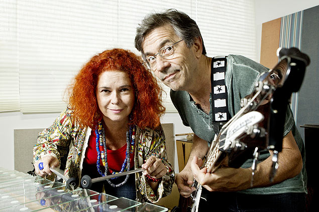 A dupla Sandra Peres e Paulo Tati, do Palavra Cantada (Crédito: Eduardo Knapp/Folhapress)