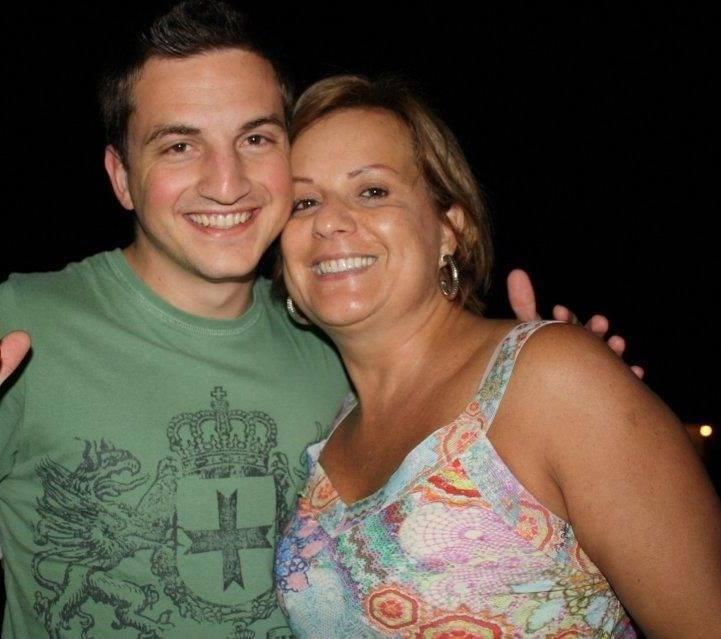Tomás antes do acidente com a 'mamusca' Rosana (Foto: arquivo pessoal)