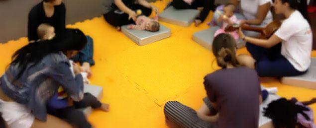 Atividade de musicalização para bebês (foto: divulgação)