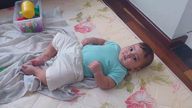 Renato Amábile desistiu de usar tapetes de EVA após se informar sobre os riscos à saúde da criança (Foto: Arquivo Pessoal)