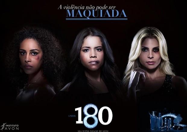 Campanha da Avon para divulgar o número 180 do disque-denúncia (Foto: Divulgação)