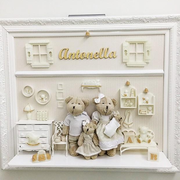Enfeite da porta de maternidade de Antonella (Foto: Reprodução/Instagram)