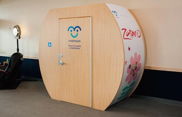 Cabine de amamentação instalada em aeroporto (Foto: Divulgação)