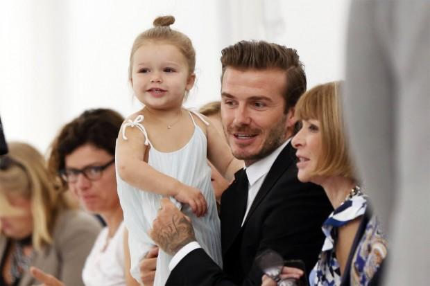 O ex-jogador e a filha Harper (Lucas Jackson/Reuters)