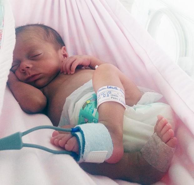 Hospital usa redinha para acalmar bebês prematuros (Divulgação)