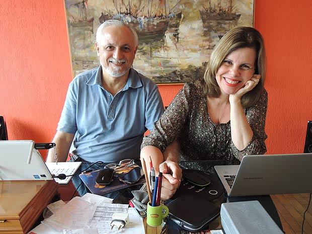 Jorge Luiz de Souza, 64, e Lisabete Junqueira, 57, criadores do site Avosidade (Divulgação)