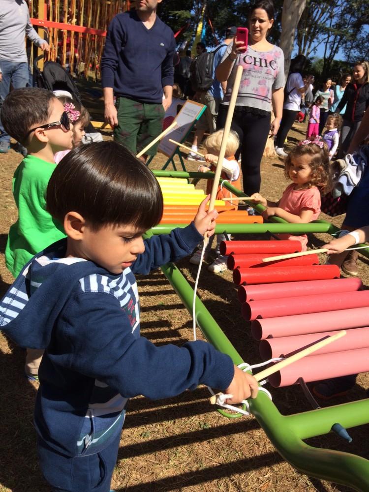 Crianças se divertem no Slowkids que aconteceu no Parque da Independência (Arquivo Pessoal)