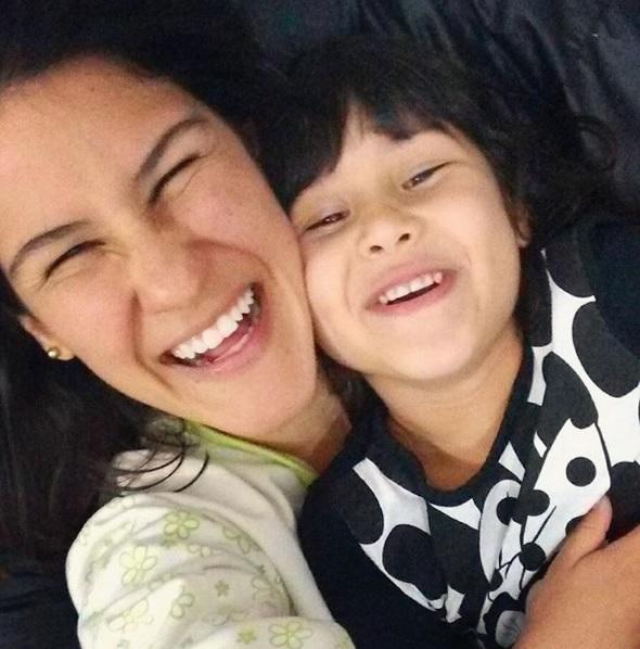 Luciana sau do Rio e veio morar em São Paulo com a filha Mariana (Arquivo Pessoal)