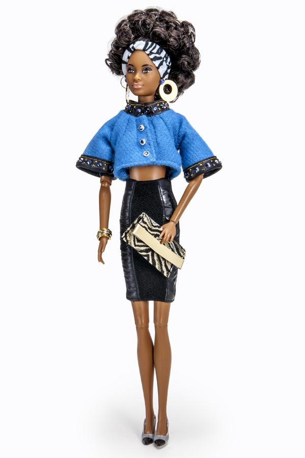 Barbie customizada por meninas e meninos beneficiados pela Plan Internationação (Rogerio Abbamonte/Divulgação)
