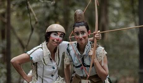 A dupla de palhaças (Foto:  Pablo Saborido)