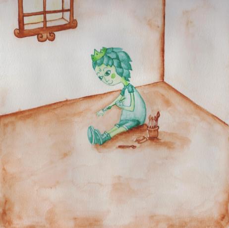 Uma das ilustrações do livro 'Joana Princesa' (Ilustração: Marina Tranquilin/Divulgação)