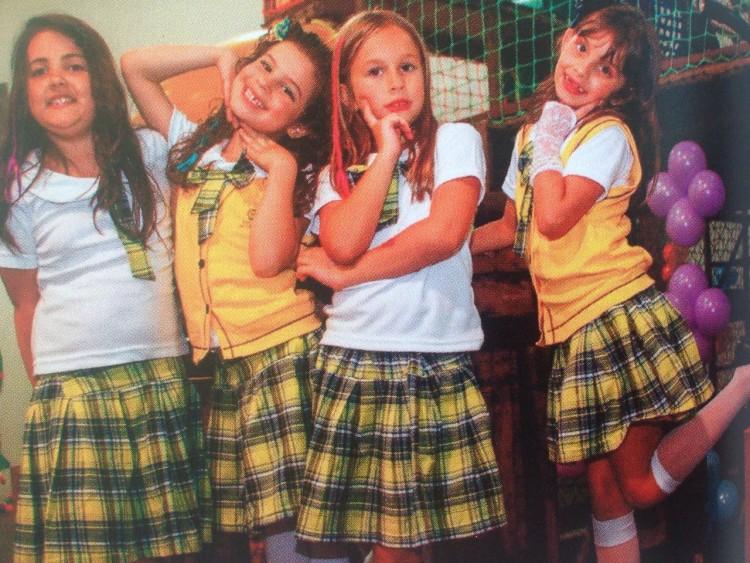 As quatro aniversariantes na festa Carrossel (Arquivo Pessoal)