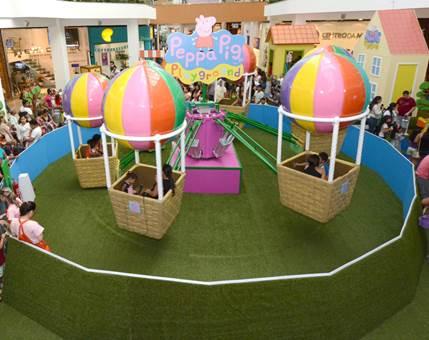 Carrossel de balões da Peppa (Divulgação)